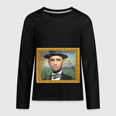 Obama- Lincoln - Kids' Premium Long Sleeve T-Shirt