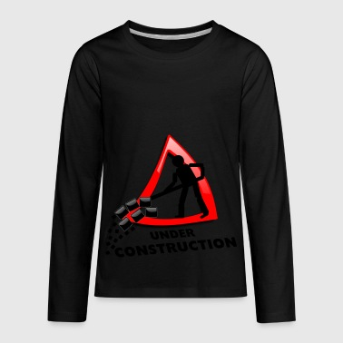 under construction - Kids' Premium Long Sleeve T-Shirt