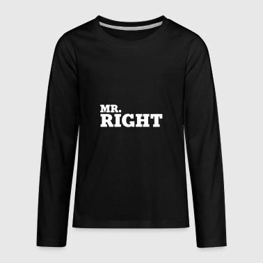 mr right humour logo - Kids' Premium Long Sleeve T-Shirt