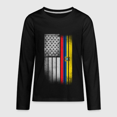 Ecuadorean American Flag - Kids' Premium Long Sleeve T-Shirt