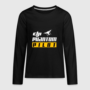 Dji Phantom Pilot T shirt - Kids' Premium Long Sleeve T-Shirt