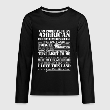 Proud American Patriotic Shirt - Kids' Premium Long Sleeve T-Shirt