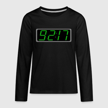 Rise Digital Characters Green on Black Clock - Kids' Premium Long Sleeve T-Shirt