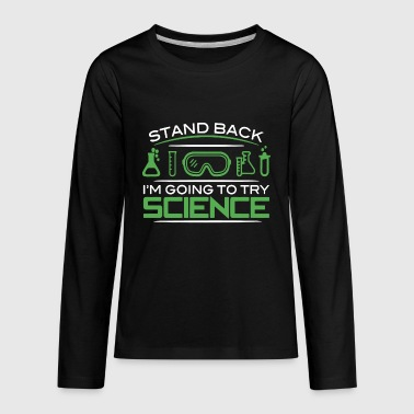 Going To Try Science Shirt - Kids' Premium Long Sleeve T-Shirt
