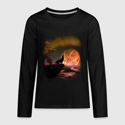 The ball in the moon - Kids' Premium Long Sleeve T-Shirt