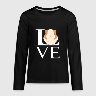 Love Guinea Pigs Funny Animal Lover - Kids' Premium Long Sleeve T-Shirt