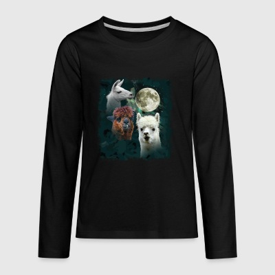 Three Llama Moon - Kids' Premium Long Sleeve T-Shirt