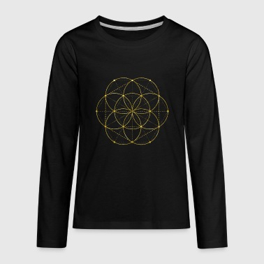 Golden Egg Of Life Sacred Geometry - Kids' Premium Long Sleeve T-Shirt