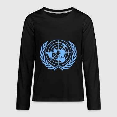 United Nations Symbol - Kids' Premium Long Sleeve T-Shirt