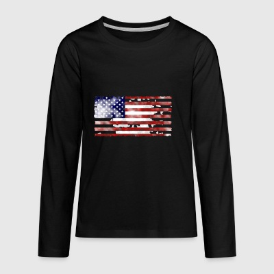 american flag4 - Kids' Premium Long Sleeve T-Shirt