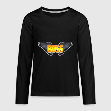 boss wings - Kids' Premium Long Sleeve T-Shirt