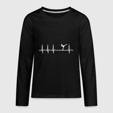 Heartbeat Ice Figure Skating Cool Funny Gift Coach - Kids' Premium Long Sleeve T-Shirt