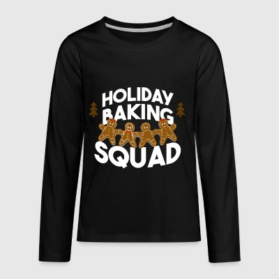 Holiday Baking Squad Gingerbread - Kids' Premium Long Sleeve T-Shirt
