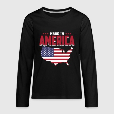 Made in America - USA - United States of America - Kids' Premium Long Sleeve T-Shirt