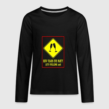 Attention new years eve party ahead - Kids' Premium Long Sleeve T-Shirt