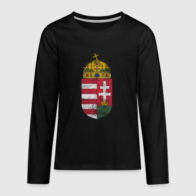 Hungarian Coat of Arms Hungary Symbol - Kids' Premium Long Sleeve T-Shirt