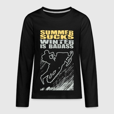 Snowmobile Summer Sucks - Kids' Premium Long Sleeve T-Shirt