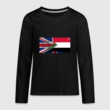 British Sudanese Half Sudan Half UK Flag - Kids' Premium Long Sleeve T-Shirt