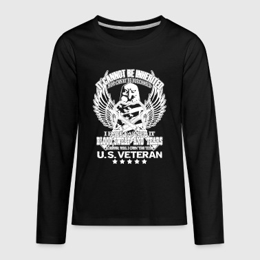 Army Veteran Eagle US Vet War Hero Proud Military - Kids' Premium Long Sleeve T-Shirt