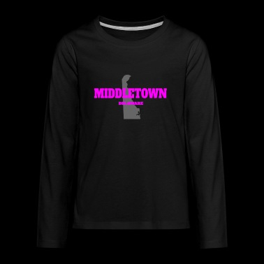 DELAWARE MIDDLETOWN US STATE EDITION PINK - Kids' Premium Long Sleeve T-Shirt