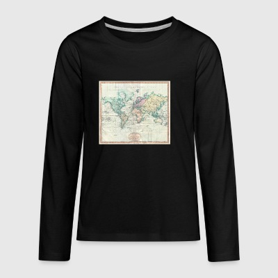 1801 Map of the world - Kids' Premium Long Sleeve T-Shirt