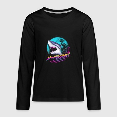 Jawesome, awesome shark - Kids' Premium Long Sleeve T-Shirt