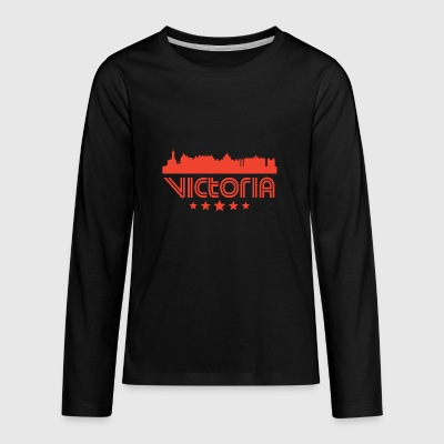 Retro Victoria Skyline - Kids' Premium Long Sleeve T-Shirt