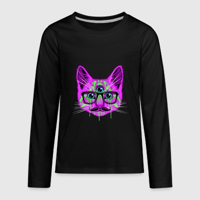 ॐ ACID___TRIPPY___CAT ॐ - Kids' Premium Long Sleeve T-Shirt