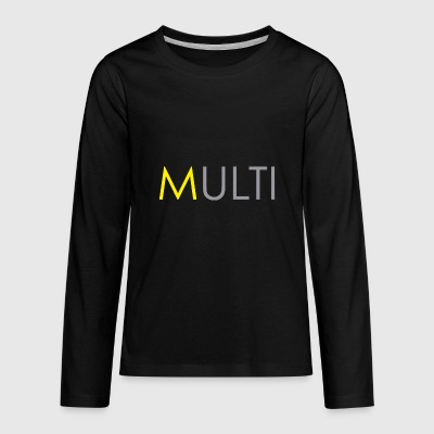 Yellow 'm' - Kids' Premium Long Sleeve T-Shirt