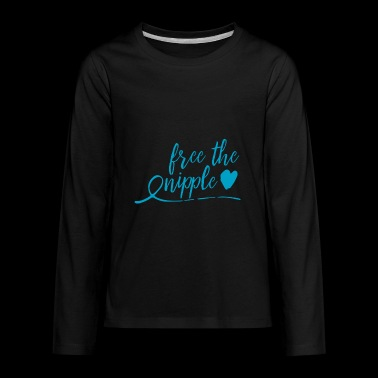 free the nipple - blue - Kids' Premium Long Sleeve T-Shirt