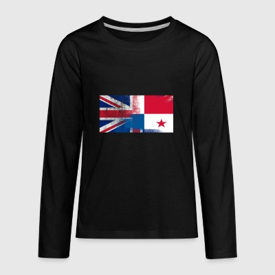 British Panamanian Half Panama Half UK Flag - Kids' Premium Long Sleeve T-Shirt