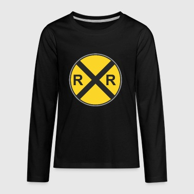 Road_sign_R_x_R - Kids' Premium Long Sleeve T-Shirt