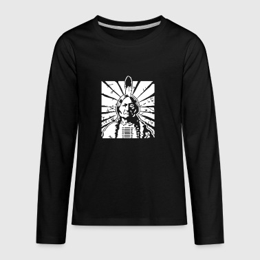 Native American Indian Chief - Kids' Premium Long Sleeve T-Shirt
