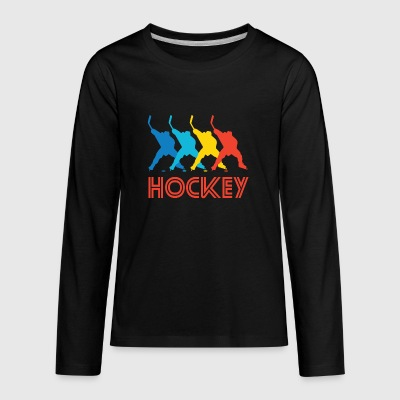Retro Hockey Pop Art - Kids' Premium Long Sleeve T-Shirt
