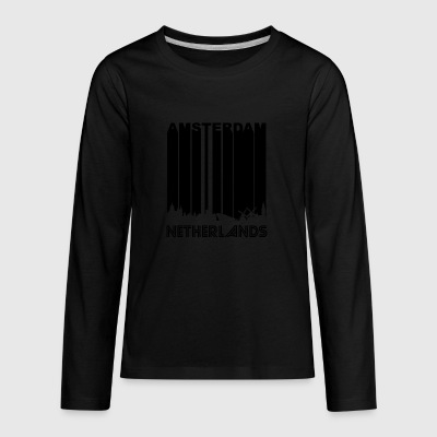 Retro Amsterdam Skyline - Kids' Premium Long Sleeve T-Shirt