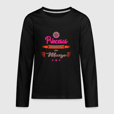 Princesas nacen en marzo - Kids' Premium Long Sleeve T-Shirt