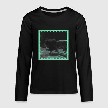 Lion on the prowl - Kids' Premium Long Sleeve T-Shirt