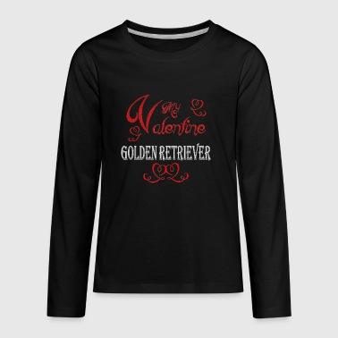 A romantic Valentine with my Golden Retriever - Kids' Premium Long Sleeve T-Shirt