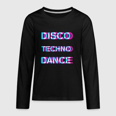 Disco dance techno - Kids' Premium Long Sleeve T-Shirt