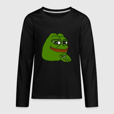 Pepe Knows. - Kids' Premium Long Sleeve T-Shirt