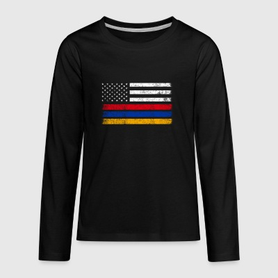 Armenian American Flag - USA Armenia Shirt - Kids' Premium Long Sleeve T-Shirt