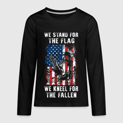 We Stand For The Flag TShirt - Kids' Premium Long Sleeve T-Shirt