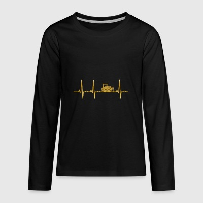 evolution ekg heartbeat bulldozer bau craftsman ba - Kids' Premium Long Sleeve T-Shirt