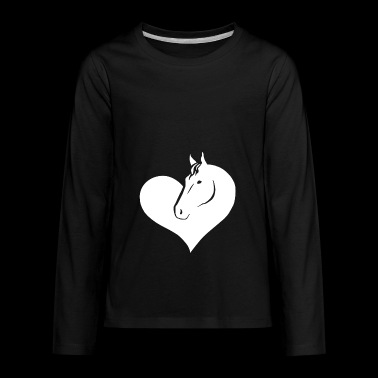 Love Horse shirts - Horse Riding Lovers tshirt - Kids' Premium Long Sleeve T-Shirt