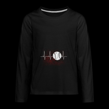Gift for baseball players with heart - Kids' Premium Long Sleeve T-Shirt