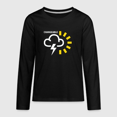 Weather Forecast Symbol - Kids' Premium Long Sleeve T-Shirt