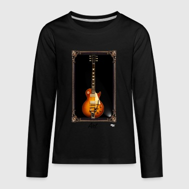 Guitars Are Art - LP - Kids' Premium Long Sleeve T-Shirt
