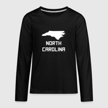 North Carolina State Silhouette - Kids' Premium Long Sleeve T-Shirt