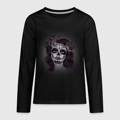 Cool Sugar Skull Shirt - Kids' Premium Long Sleeve T-Shirt
