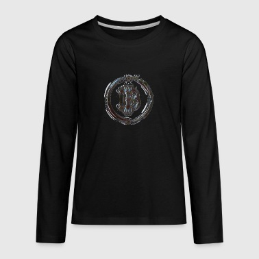 Bitcoin Marble - Kids' Premium Long Sleeve T-Shirt